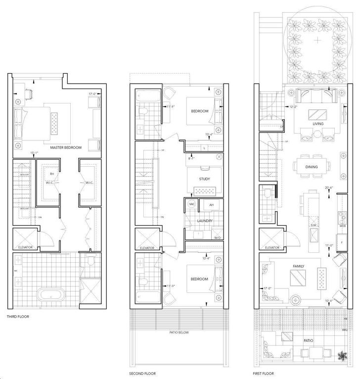 101 erskine townhomes by tridel th5 floorplan 3 bed 3 bath for 101 richmond floor plans