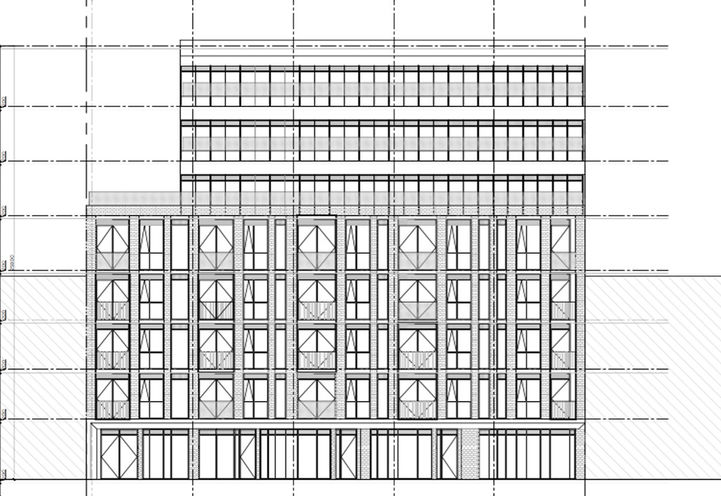 Northern Building Elevation of 1494 Dundas Street West Condos
