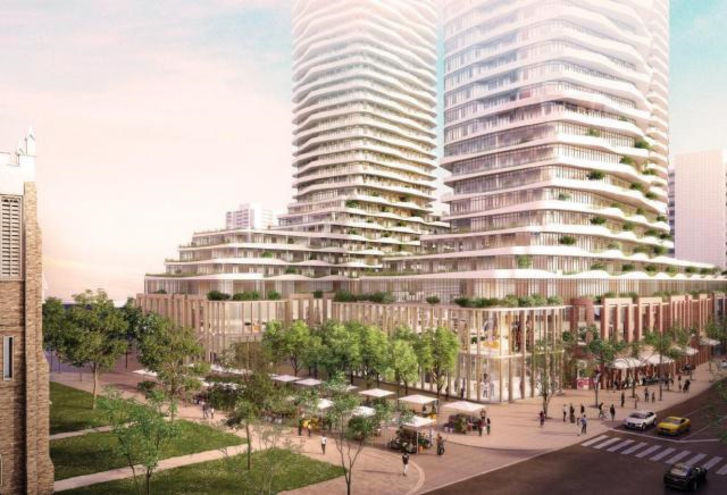 Looking Southeast at 1535 Yonge Street Condos