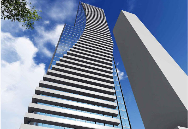 Looking Up at 18 Dalhousie Condos by Pemberton Group