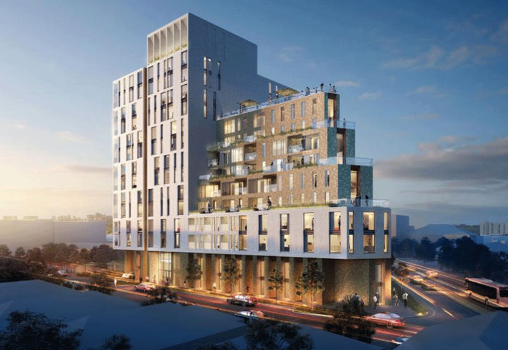 Dusk View of 1860 Keele Street Condos Exteriors