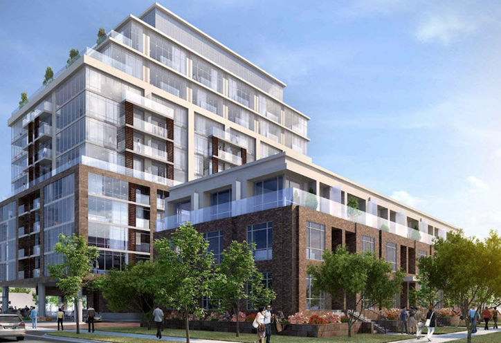 245 Sheppard Avenue West  Condo Townhome Exterior Rendering