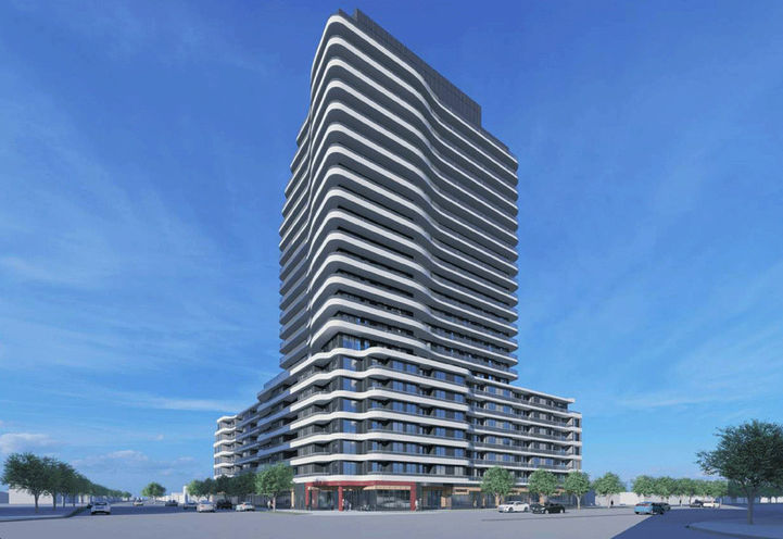 2993 Sheppard Ave East Condos Street Level View of Exteriors