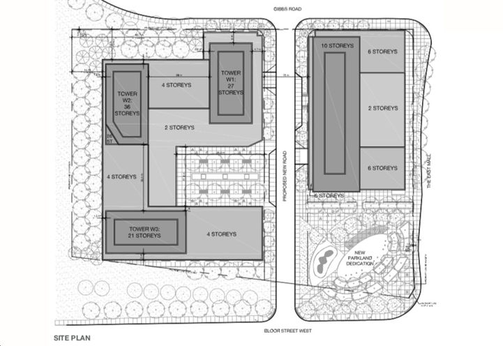 Site Plan of 300 The East Mall Condos 3