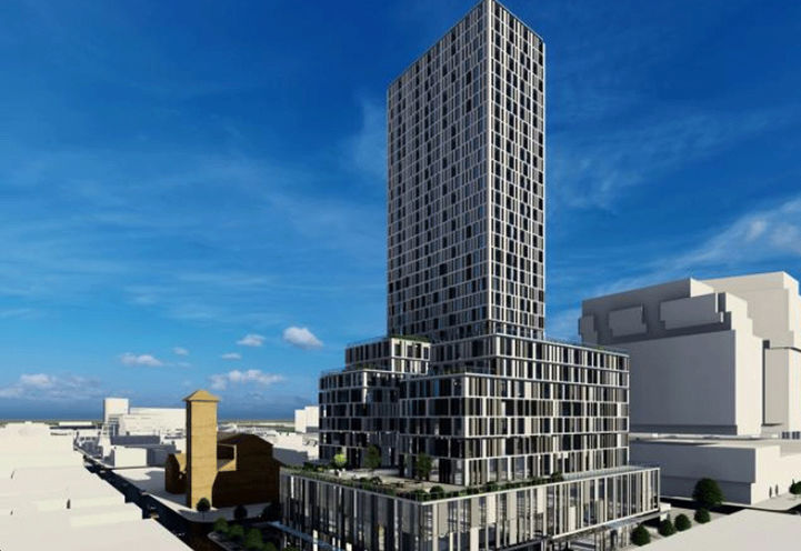 Building Rendering of 351 Queen Street East Condos