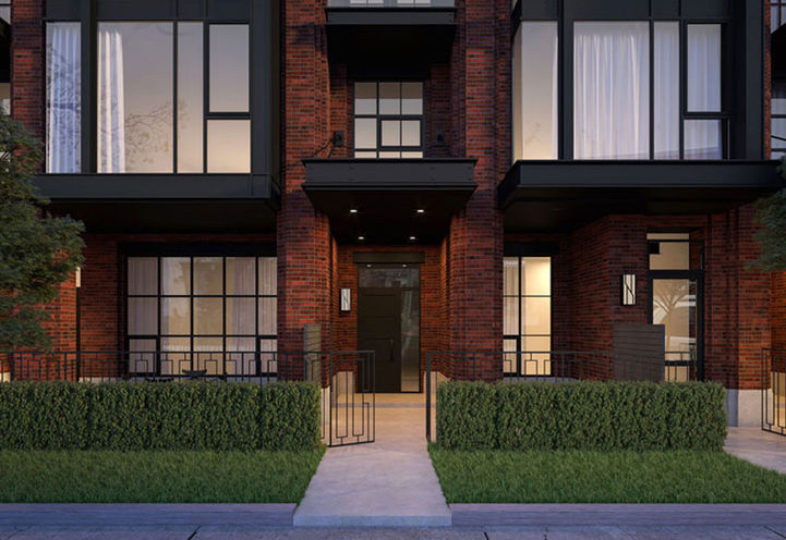 Private Resident Entrance at 36 Birch Avenue Townhomes