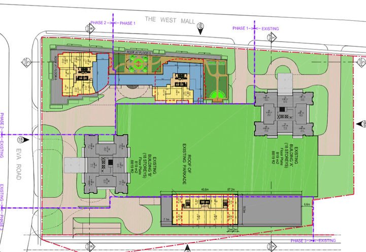 Site Plan for 361 The West Mall Condos 2