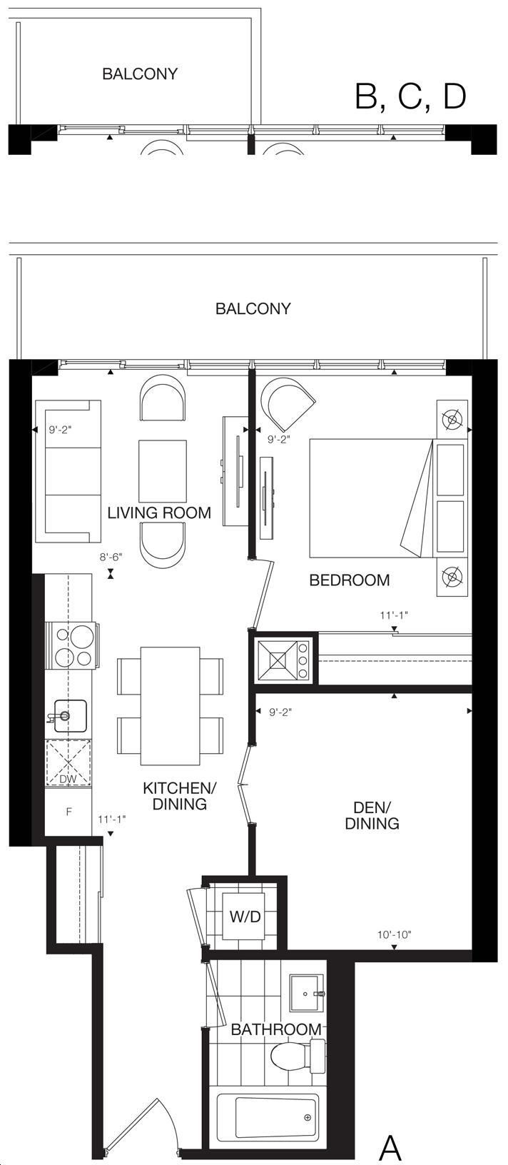 365 Church Condos By Menkes The Jarvis Floorplan 1 Bed
