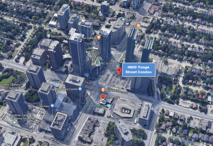 Easy Access to Highway 401 Express from 4800 Yonge Street Condos