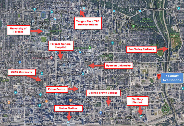 Easy Access to Dundas Street Streetcar from 7 Labatt Ave Condos