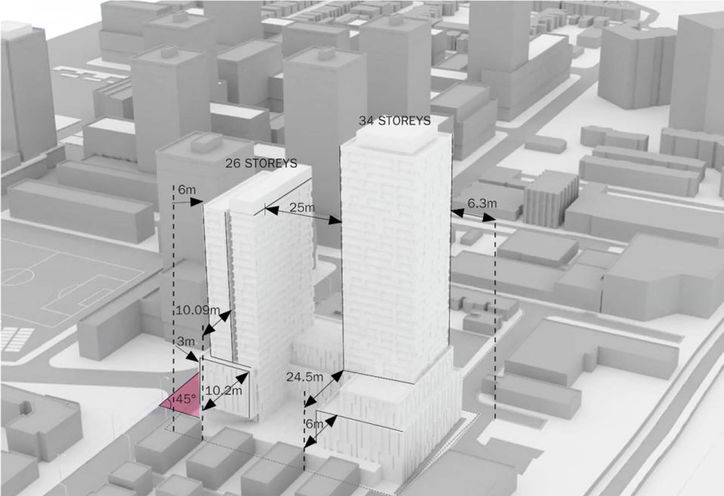 Elevation Drawing of 7 Labatt Ave Condos