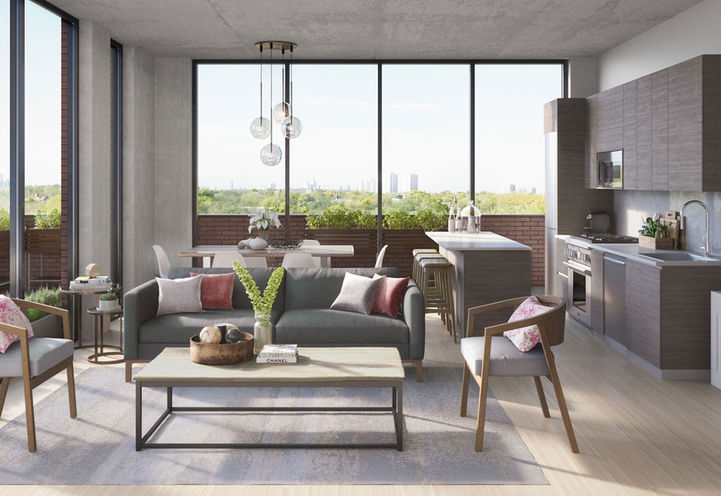 Loft-Inspired Suites at 875 Queen Street East by Harhay Developments