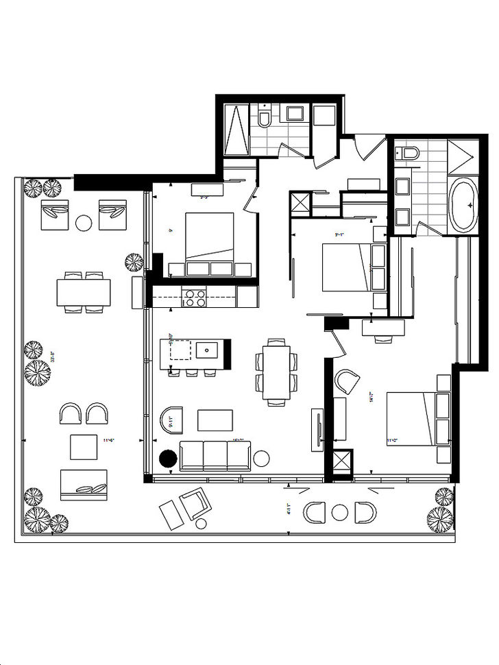 Ayc condos by metropia flowershop floorplan 3 bed 2 bath for Flower shop design layouts