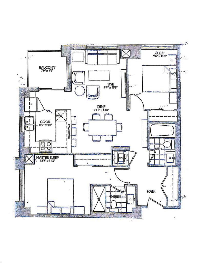 Allegra Condos 2 By Trimax A2 Floorplan 2 Bed Bath