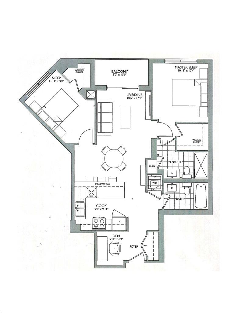 Allegra Condos 2 By Trimax T Floorplan 2 Bed Bath