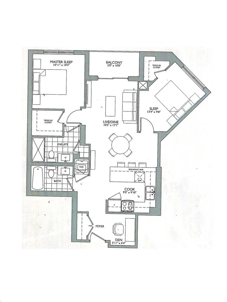 Allegra Condos 2 By Trimax T1 Floorplan 2 Bed Bath