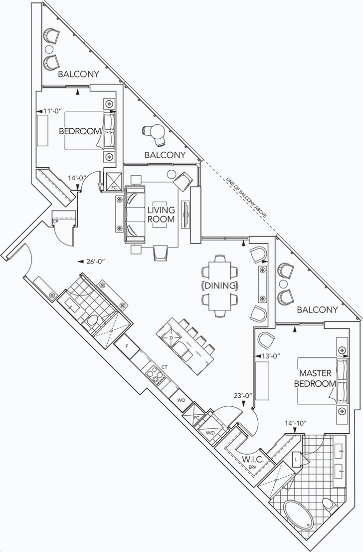 Aquavista Condos At Bayside By Tridel Gph35 Floorplan 2 Bed 2 Bath