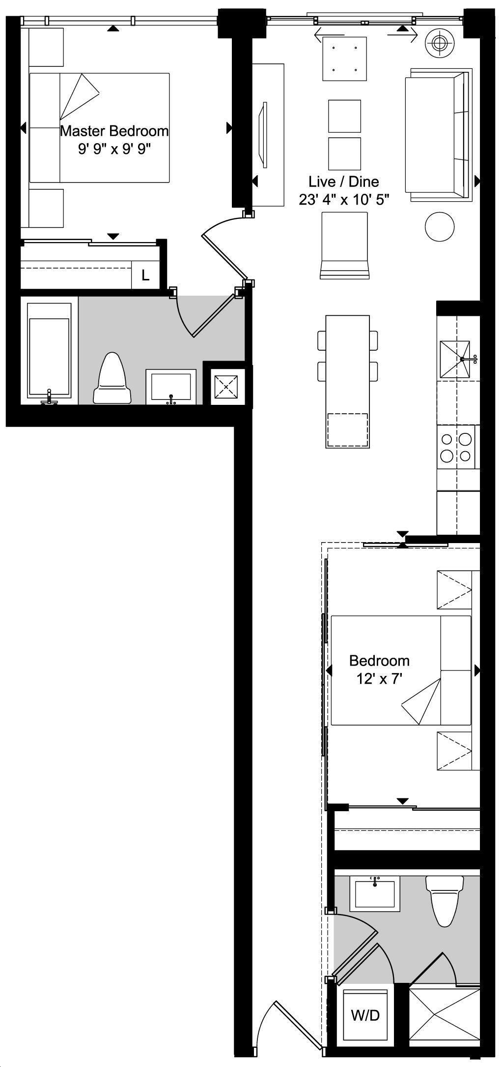 Art Condos By Triangle West D2 Floorplan 2 Bed 2 Bath