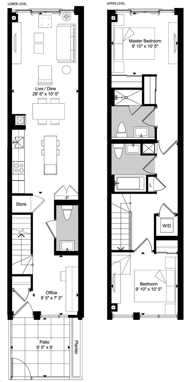 Art Condos By Triangle West E4 Floorplan 2 Bed 2 5 Bath
