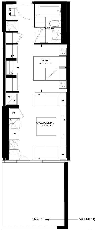 Art Shoppe Lofts Condos By Freed L17 Floorplan 0 Bed 1 Bath