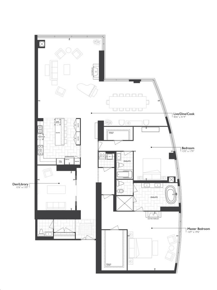 Aura Condos At College Park By Canderel 2u D 7910 Floorplan 2 Bed 2 Bath