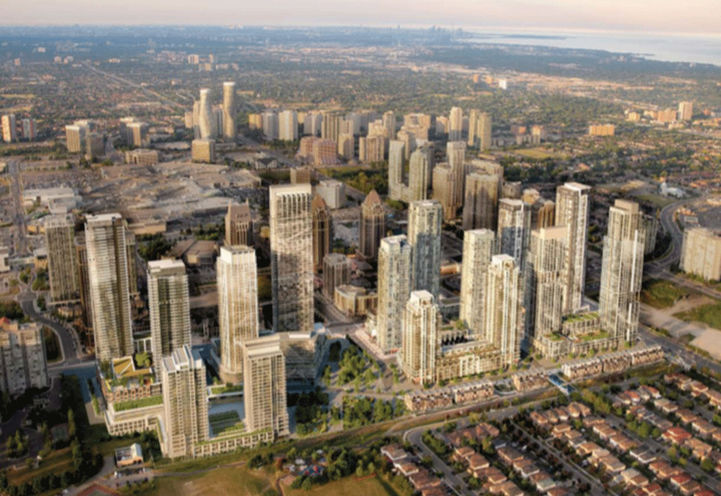 Aerial View of Avia Condos Parkside Village