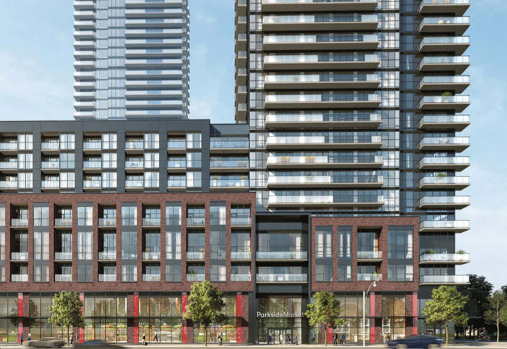 Podium View of Avia Condos Parkside Village