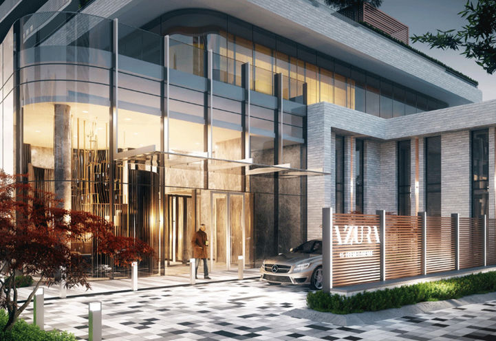 Entrance of Azura Condos