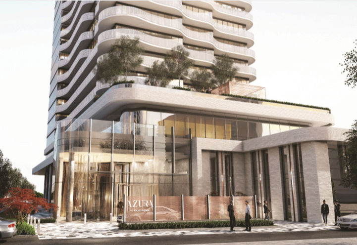 Front Resident Entrance at Azura Condos