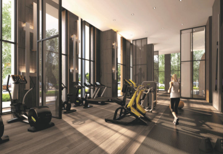 Gym at Azura Condos