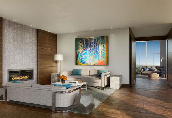 Living Room Features and Finishes  at Azure Condos