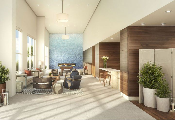 Lounge Area at Azure Condos