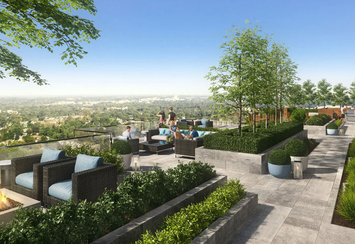 Rooftop Terrace at Azure Condos