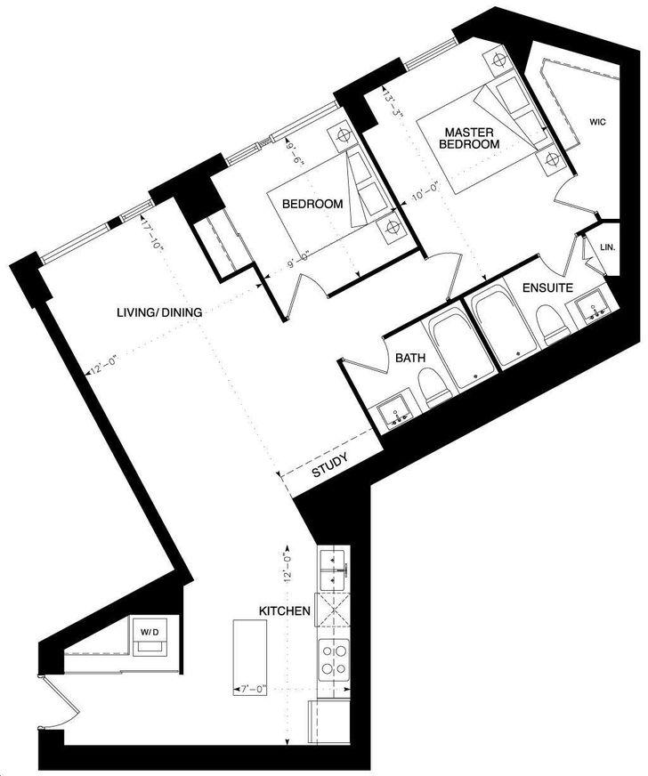 Backstage Condos by Cityzen |Q Floorplan 2 bed & 2 bath