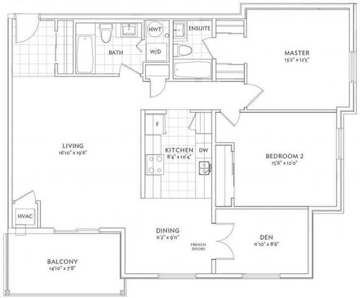 Bear Creek Ridge Condos By Pratt Kodiak Bear 1401 B Floorplan 2 Bed 2 Bath