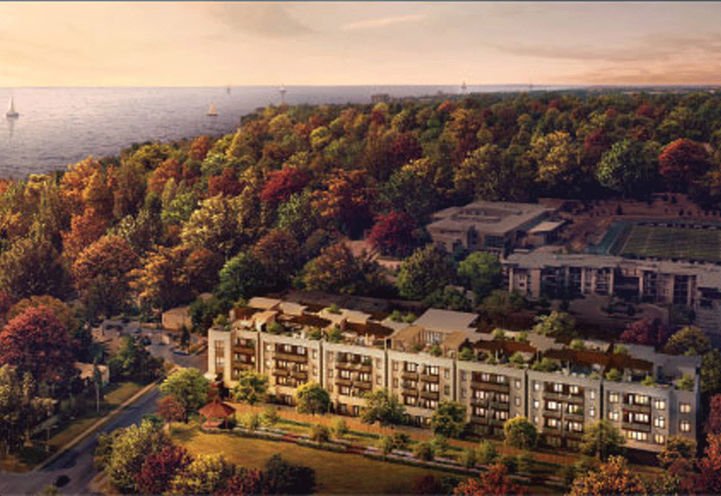 Berkshire Residences Aerial View by the Lake