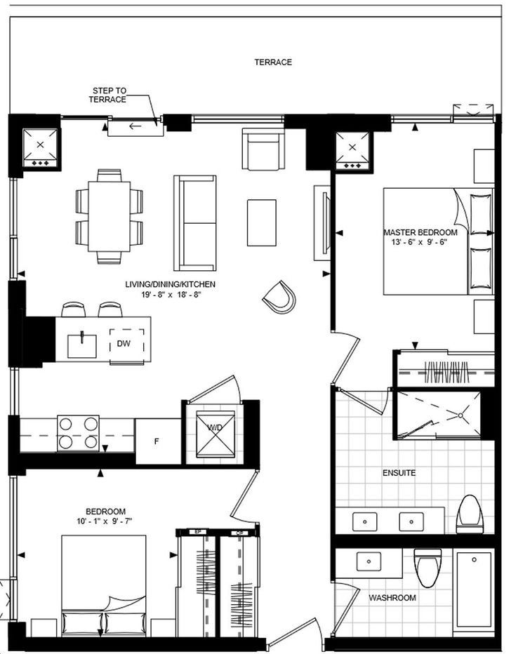 Bijou On Bloor Condos By Plaza 2 H Floorplan 2 Bed 2 Bath