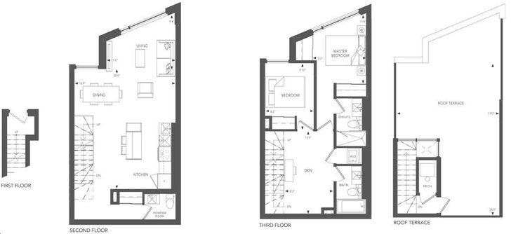 Birchcliff Urban Towns By Core Development Boulevard Residence 31 Floorplan 2 Bed 2 5 Bath