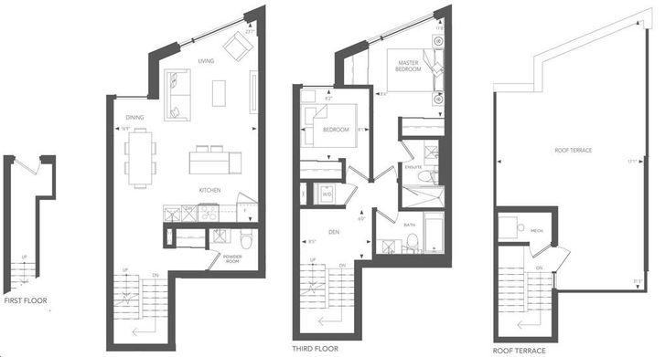 Birchcliff Urban Towns By Core Development Boulevard Residence 35 Floorplan 2 Bed 2 5 Bath