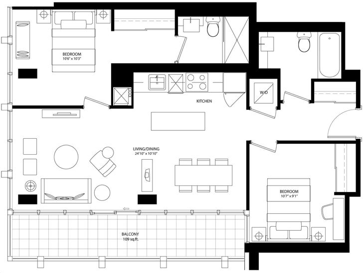 Bisha Hotel And Residences By Lifetime Mishka Floorplan 2 Bed 2 Bath