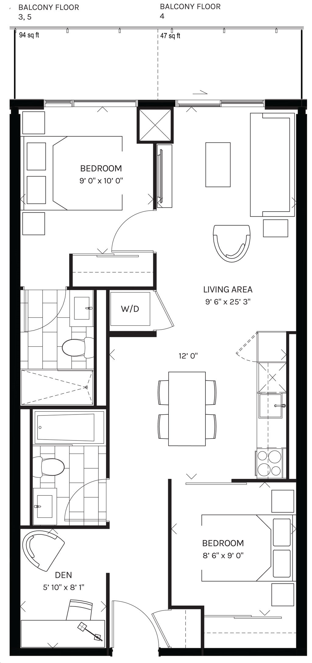 Canary Commons Condos by Dream-Development Model Q112 Floorplan 12