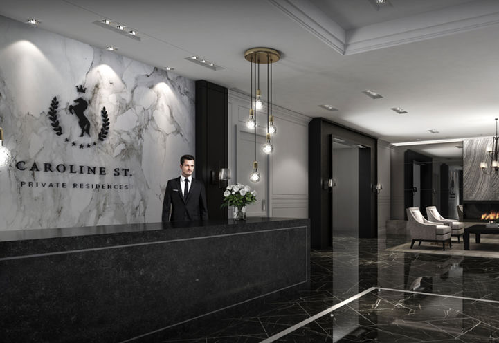 Elegant Front Lobby at Caroline St. Private Residences
