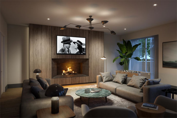 Entertaining Lounge at  Casa Di Torre Condos