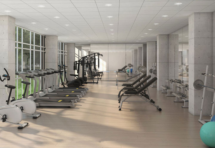 CBC Amenities- Exercise Room and Yoga Area