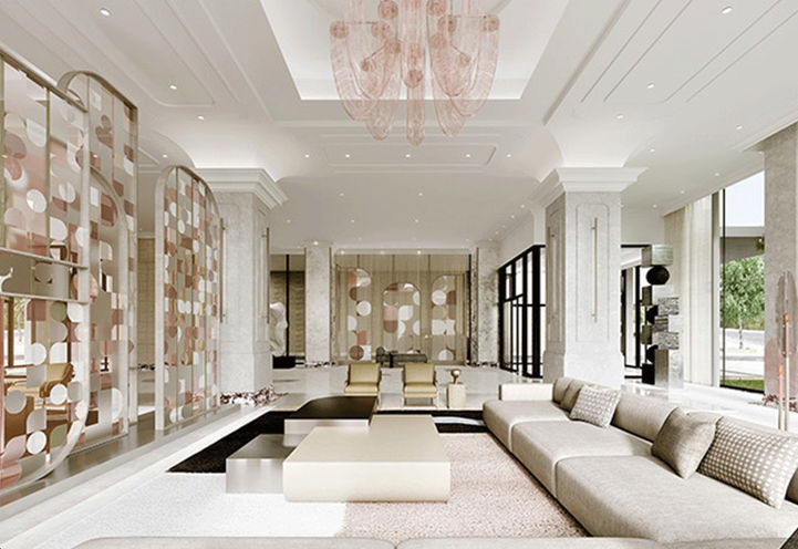 Chateau Auberge Lounge Area by Tridel