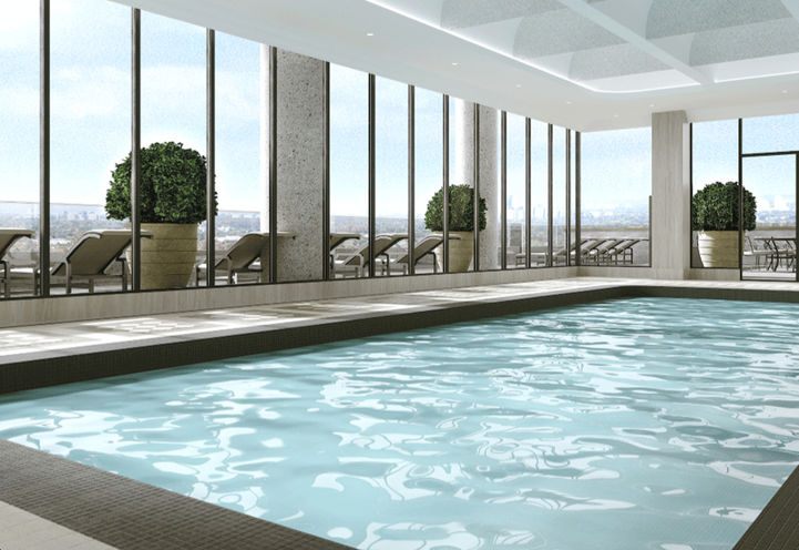 Fifth Floor Indoor Pool at Chateau Auberge
