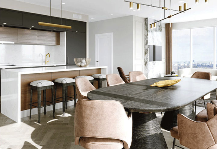 Modern and Chic Kitchen at Chateau Auberge Condos
