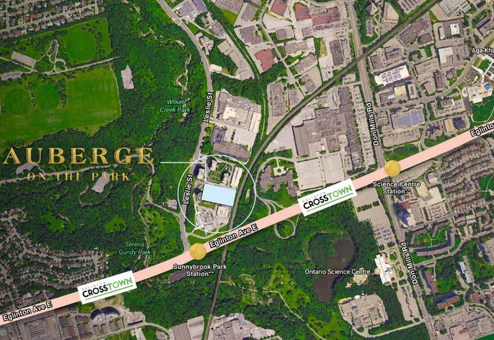 Site Map for Chateau Auberge On The Park Condos