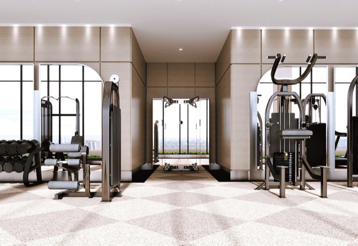 Weightlifting Equipment within Chateau Auberge's Fitness Centre