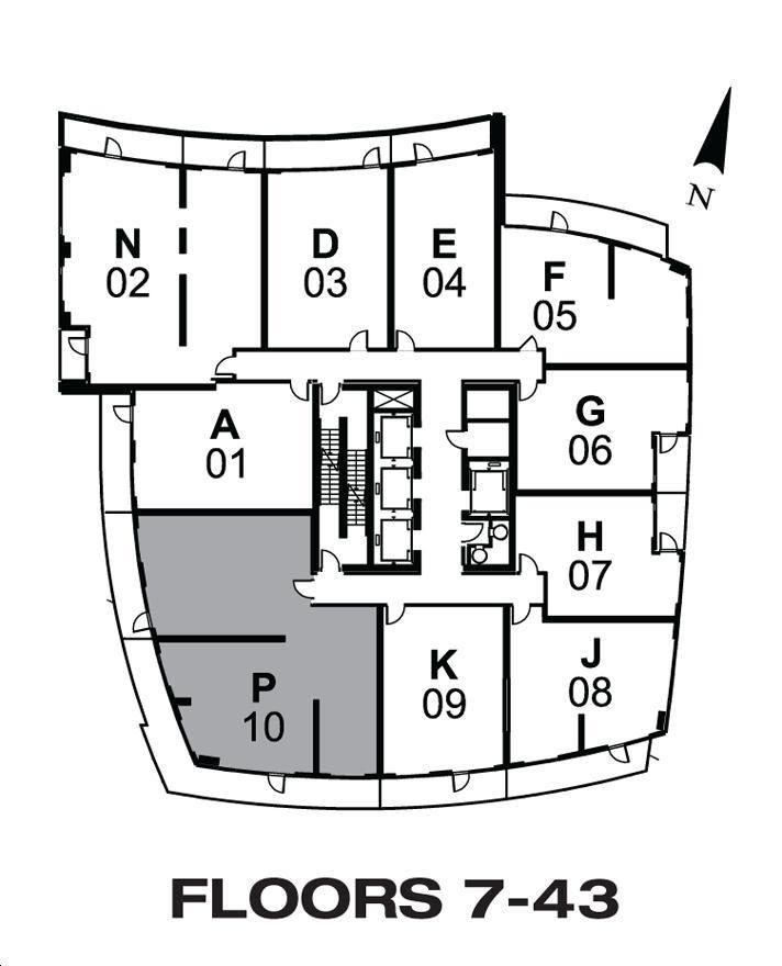 Cinema Tower By Daniels The Brooks Floorplan 3 Bed 2 Bath